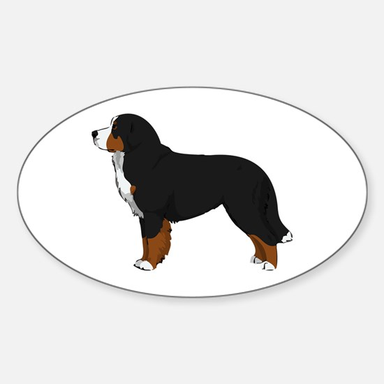 Bernese Mt Dog Sticker (Oval)