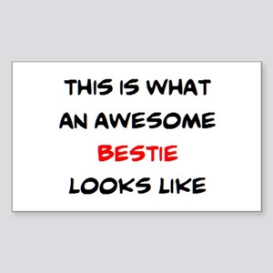 awesome bestie Sticker (Rectangle)