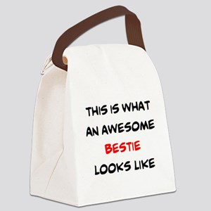 awesome bestie Canvas Lunch Bag