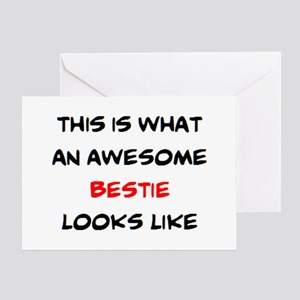 awesome bestie Greeting Card