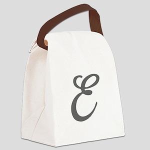 E-Bir gray Canvas Lunch Bag
