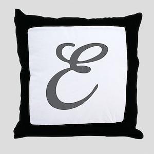 E-Bir gray Throw Pillow