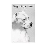 Dogo Argentino Sticker (Rectangle 50 pk)