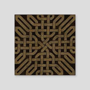 "Light Leather Celtic Knot Square Sticker 3"" x 3"""
