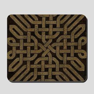 Light Leather Celtic Knot Mousepad