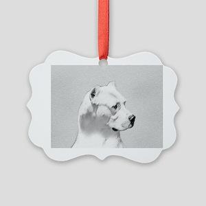 Dogo Argentino Picture Ornament