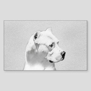 Dogo Argentino Sticker (Rectangle)