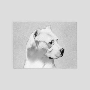 Dogo Argentino 5'x7'Area Rug