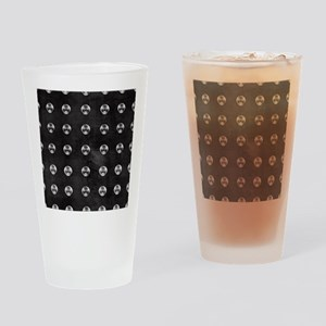 Silver Rivets on Black Drinking Glass
