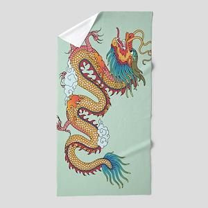 Chinese Dragon Beach Towel
