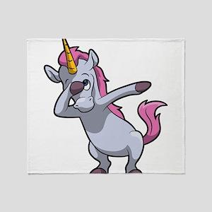 Dabbing Unicorn Throw Blanket