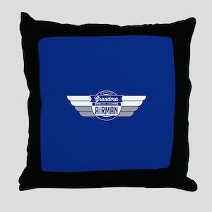 Proud Grandma of an Airman Throw Pillow
