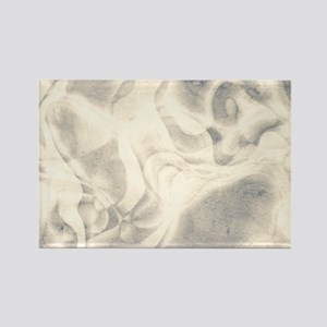 stylish Pale grey abstract grungy marble Magnets
