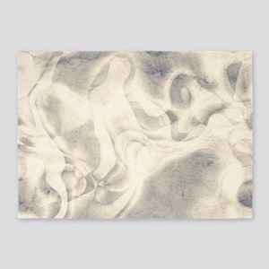 stylish Pale grey abstract grungy marble 5'x7'Area