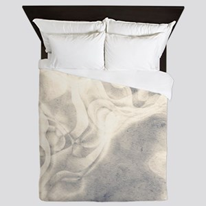 stylish Pale grey abstract grungy marble Queen Duv