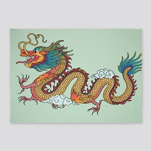Chinese Dragon 5'x7'Area Rug