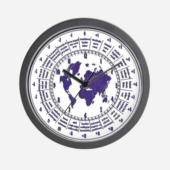 Wall Clock with Time Zones Wall Clock