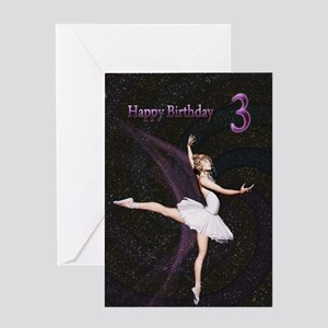 3rd birthday, a Ballerina card Greeting Cards