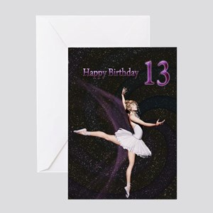 13th Birthday A Ballerina Card Greeting Cards