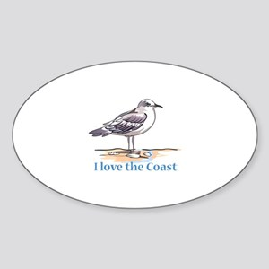 I LOVE THE COAST Sticker