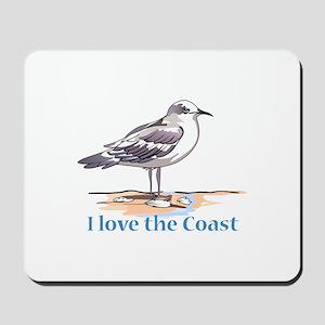 I LOVE THE COAST Mousepad