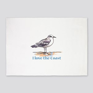 I LOVE THE COAST 5'x7'Area Rug