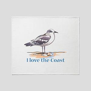 I LOVE THE COAST Throw Blanket