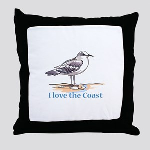 I LOVE THE COAST Throw Pillow