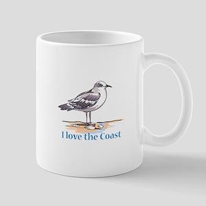 I LOVE THE COAST Mugs