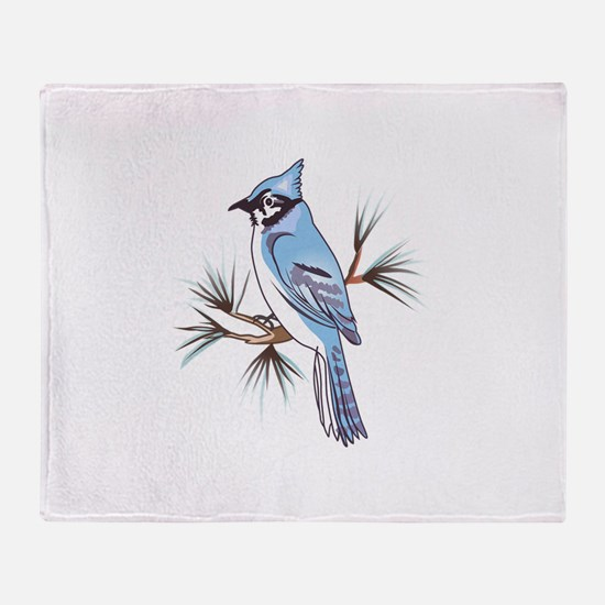 BLUEJAY Throw Blanket