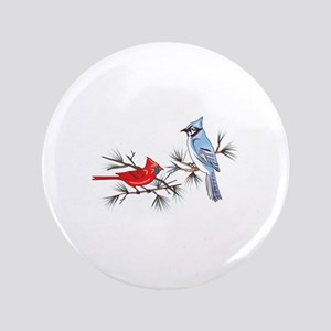 """BLUEJAY AND CARDINAL 3.5"""" Button"""