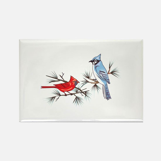 BLUEJAY AND CARDINAL Magnets