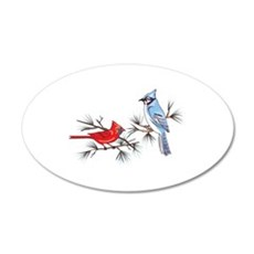 BLUEJAY AND CARDINAL Wall Decal
