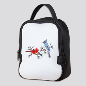 BLUEJAY AND CARDINAL Neoprene Lunch Bag