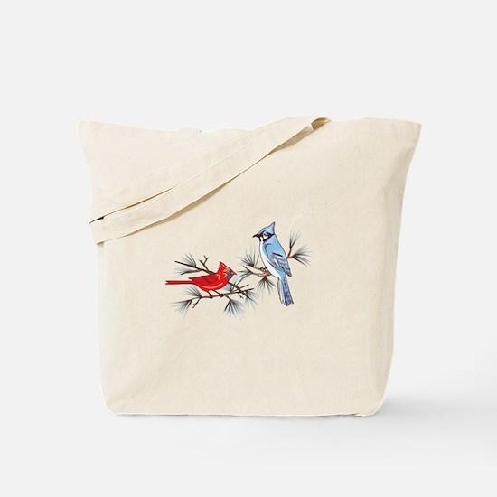 BLUEJAY AND CARDINAL Tote Bag