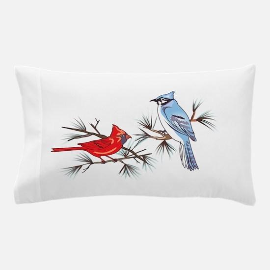 BLUEJAY AND CARDINAL Pillow Case