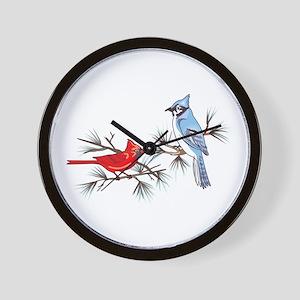 BLUEJAY AND CARDINAL Wall Clock