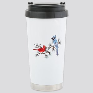BLUEJAY AND CARDINAL Travel Mug