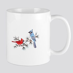 BLUEJAY AND CARDINAL Mugs