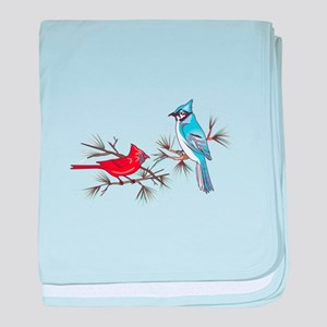BLUEJAY AND CARDINAL baby blanket
