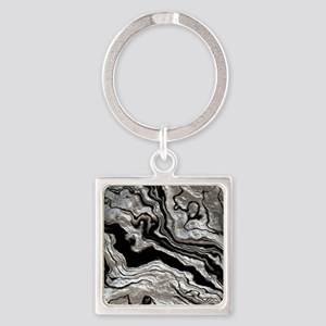 bold strong marbling metal texture Keychains