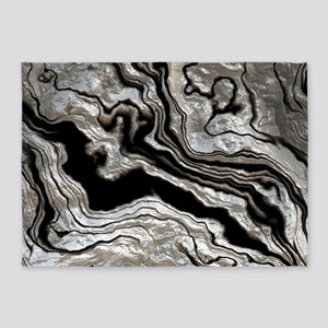 bold strong marbling metal texture 5'x7'Area Rug