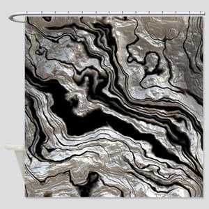 bold strong marbling metal texture Shower Curtain