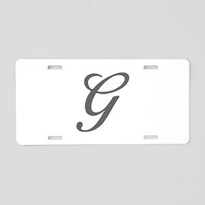 G-Bir gray Aluminum License Plate