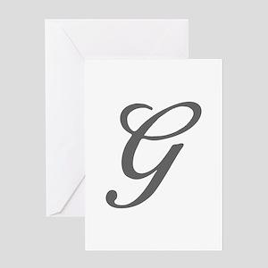 G-Bir gray Greeting Cards