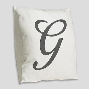 G-Bir gray Burlap Throw Pillow
