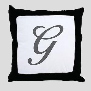 G-Bir gray Throw Pillow