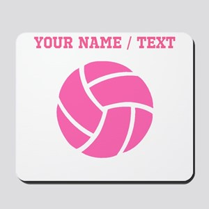 Pink Volleyball (Custom) Mousepad