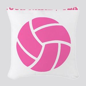 Pink Volleyball (Custom) Woven Throw Pillow