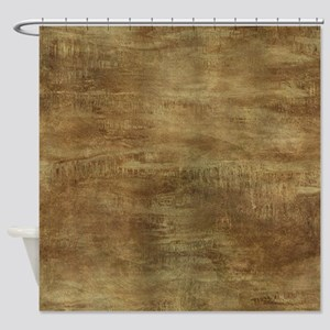 Brown ghostly brown grunge Shower Curtain